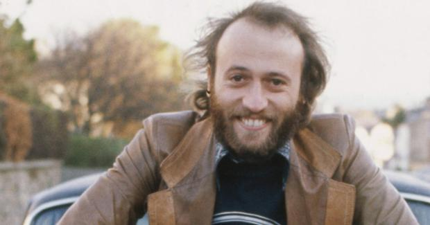 British singer Maurice Gibb (1949 - 2003) of the Bee Gees poses
